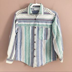 VINTAGE Western Cotton Button Down Shirt